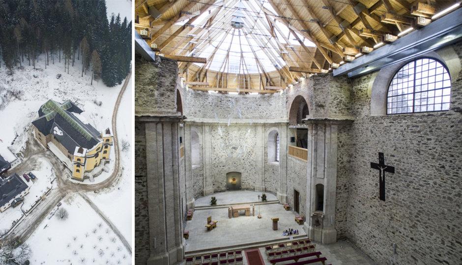 Dron proletěl kostelem Neratov: Na Boží hod je něčím speciální