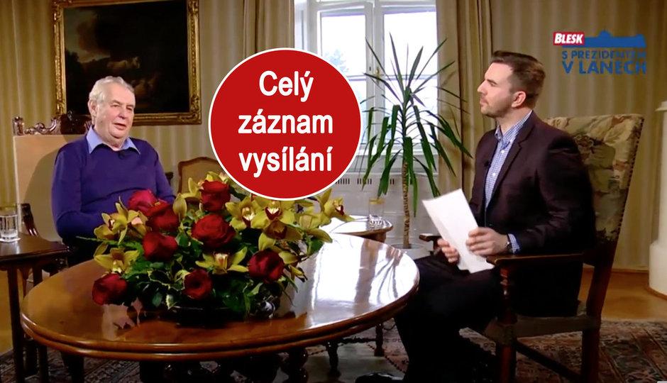 O teroru, Chartě 77 i odchodu Forejta: Miloš Zeman v pořadu S prezidentem v Lánech