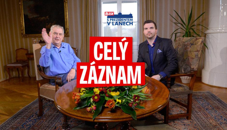 O větší moci, ztrátě paměti i boji o Hrad: Mluvili jsme S prezidentem v Lánech