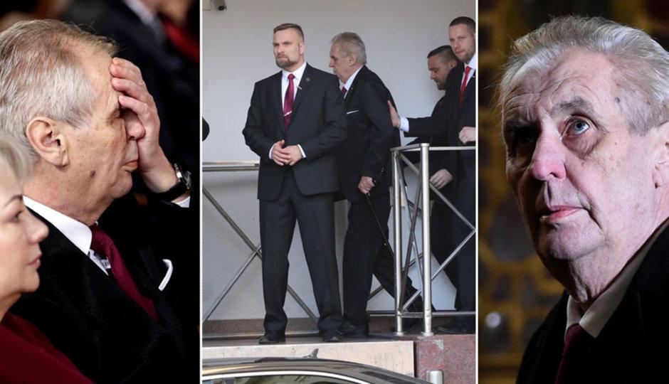Zemanovo inaugurační utrpení: Vezli ho 234 metrů, stěhovali plošinou