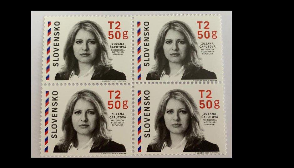 Poštovní známka se slovenskou prezidentkou se tiskla v Česku