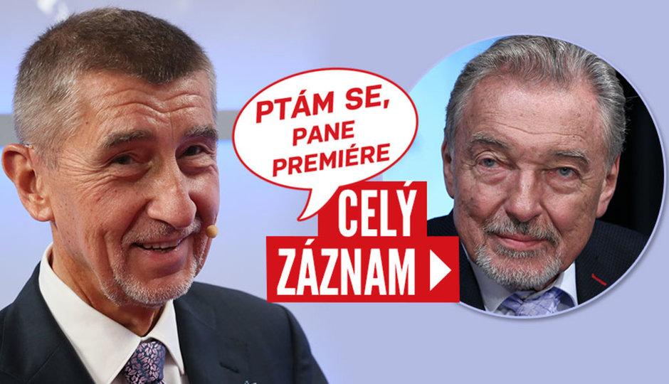 Premiér Babiš o Gottovi, důchodech, útoku na děti a hradní kandidatuře
