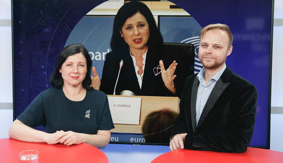 Epicentrum: Eurokomisařka Jourová o demokracii, trestním stíhání i dezinformacích