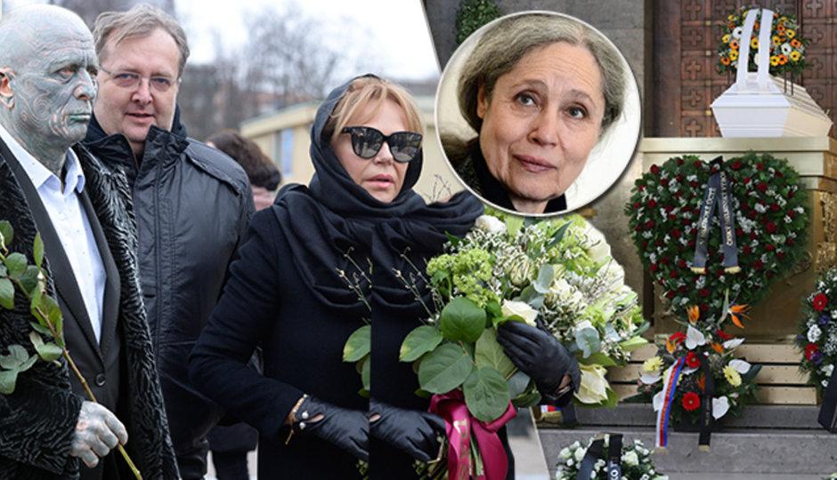 CELÝ ZÁZNAM: Pohřeb herečky a aktivistky Táni Fischerové (†72)