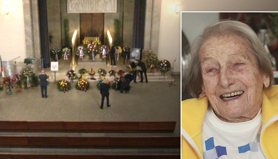 CELÝ ZÁZNAM: Komorní pohřeb Zátopkové (†97)! Splnili jí poslední přání