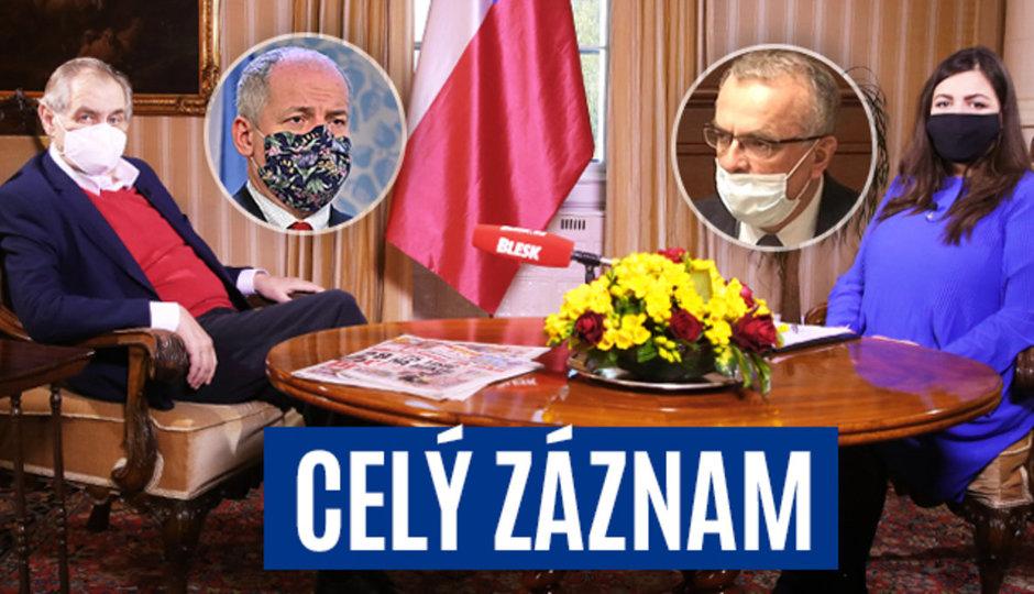 Zeman o koronaviru, zdraví a vládních opatření: Celý záznam pořadu S prezidentem v Lánech