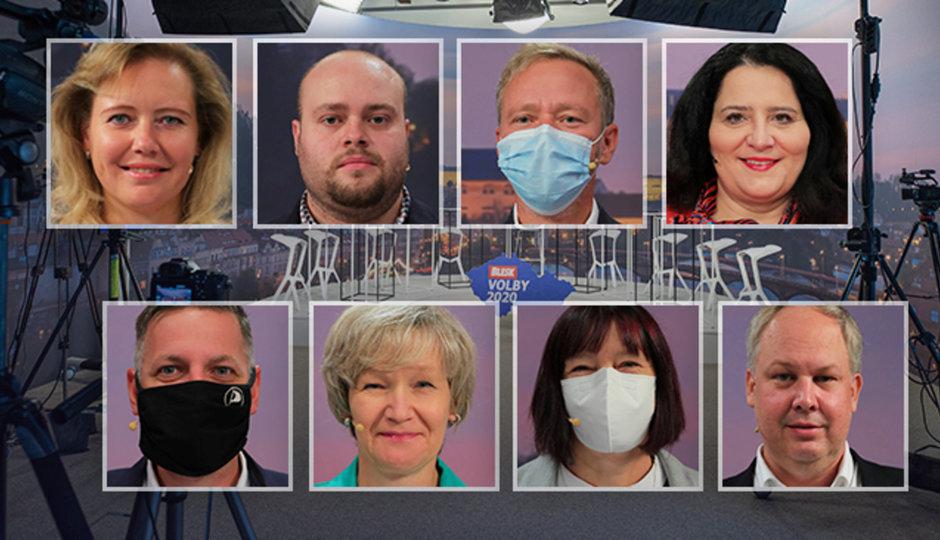 Důchody, sociální služby a 30 sekund slibů: Osm politiků v debatě Blesku