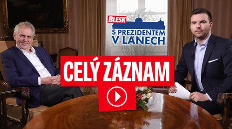 Zeman promluvil o jedu v Česku, poradci s půlkou žaludku i svém zdraví