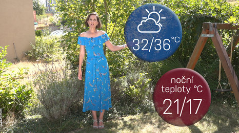 Počasí s Dagmar Honsovou: Až 36 stupňů, čekejte extrémy