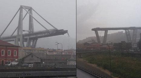 V Itálii se zřítil dálniční most: Nejméně 35 mrtvých