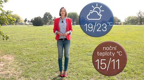 Předpověď počasí: Bude teplo, možná zaprší a neděle jak malovaná