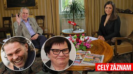 S prezidentem v Lánech: Zeman o výměně ministrů, metálu pro Jágra i hysterce