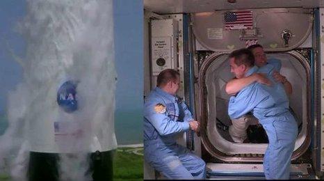 Americký návrat do vesmíru: U ISS poprvé zakotvila loď Crew Dragon s posádkou