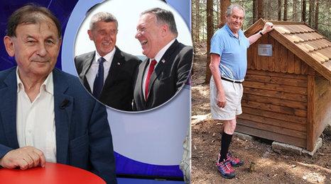 Gumový člun by prezidenta Zemana s americkým ministrem zahraničí asi neunesl, vtipkoval Michael Žantovský. Co si Američané od cesty Trumpova muže do Česka slibují?