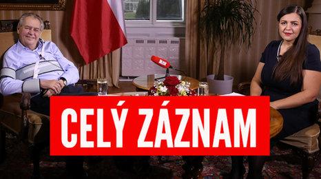 """CELÝ ZÁZNAM: S prezidentem v Lánech: Vojtěch jako """"ministr dobrého počasí"""" a """"řezník"""" Prymula. Zeman chce trestat odmítače roušek"""