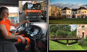 Chlapi šílí: Praha má první ženu-popelářku! A mezi paneláky stojí středověká tvrz