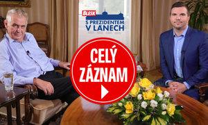 O Čapím hnízdě, panácích a burkinách: Celý záznam pořadu S prezidentem v Lánech
