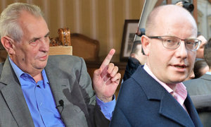 Miloš Zeman drsně proti premiérovi: Sobotko, sklapni!