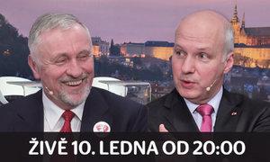 Duel prezidentských kandidátů: Fischer vs. Topolánek, dívejte se ve středu od 20 hodin!