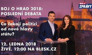 Poslední debata před volbami: Co čekají politici od hlavy státu? V pátek ve 12:00 živě