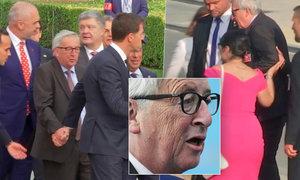 Šéf Komise Juncker nebyl na sumitu NATO ve formě, museli ho podpírat