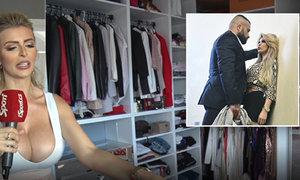 Vémolova Lela ukázala šatník: dárek od Karlose. Luxusní boty a spousta šatů