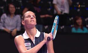 Turnaj mistryň: Plíšková vyhrála, vítězka US Open jí vzdala po prohraném setu