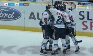 SESTŘIH: Liberec - Třinec 5:0. Dlouho vyrovnané utkání rozhodli domácí během dvou minut, kdy vstřelili tři góly