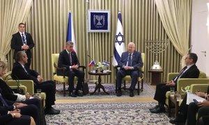 Babiš v Izraeli tlumočil prezidentovi pozdrav od Zemana