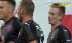 Mladá Boleslav - Slavia: Stanciu přesným centrem našel Ševčíka, ten otevřel skóre - 0:1