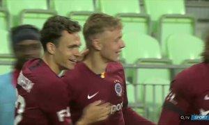 Karviná - Sparta: Karabcův první gól! Krásně prostřelil Bolka do horního růžku brány