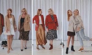 Souboj velikostí S vs. XL: Jak zkombinovat sako tak, aby slušelo hubeným ženám i baculkám?