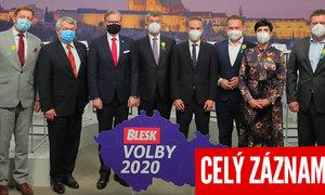 Emotivní spor o nouzový stav i covidová opatření: Lídři v superdebatě Blesku řešili i strach voličů