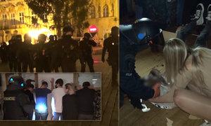 Těžkooděnci rozprášili tajnou párty v centru Prahy