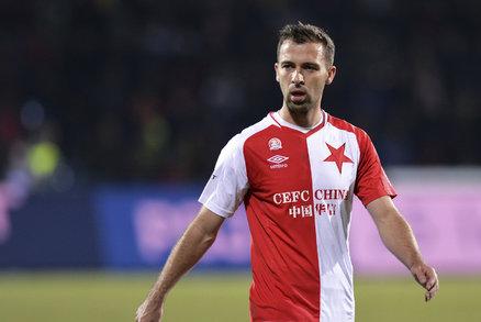 Slávistický záložník Josef Hušbauer se se svým týmem připravuje na derby