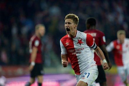 Slávistická euforie! Vedoucí gól v derby vstřelil kapitán Milan Škoda