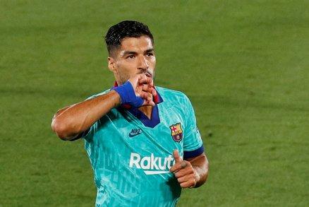 Útočník Barcelony Luis Suárez se postaral o branku Barcelony proti Villarrealu