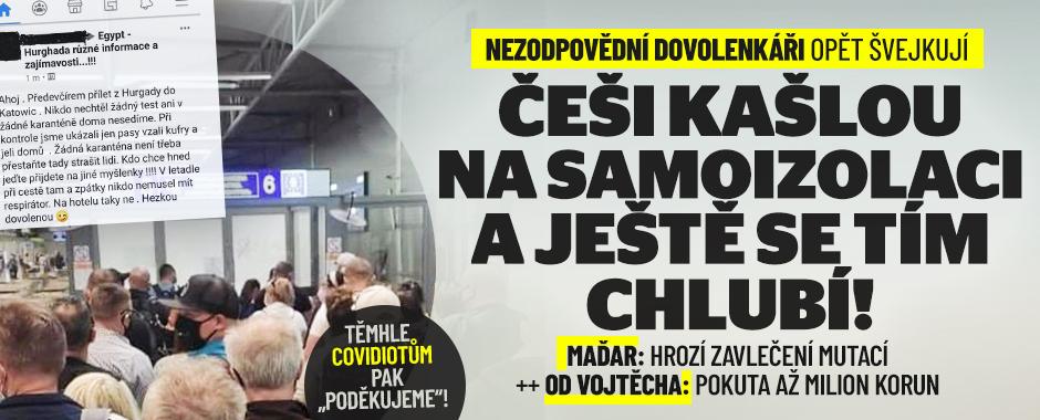 Češi kašlou na izolaci po dovolené. Ministerstvo tasí pokuty