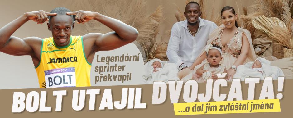 Proslulý sprinter Usain Bolt opět překvapil: První foto utajených dvojčat!