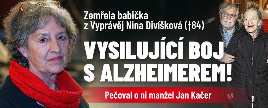 Zemřela Nina Divíšková (†84), babička z Vyprávěj a žena Jana Kačera