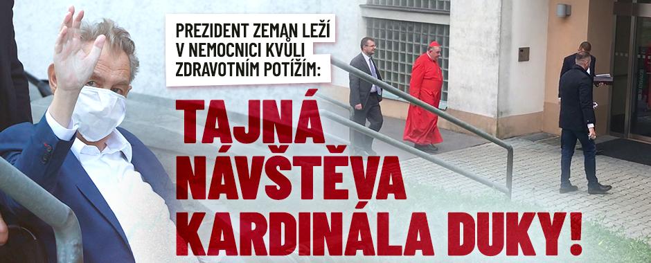 Zemana navštívil kardinál Duka. Prezident je potěšený