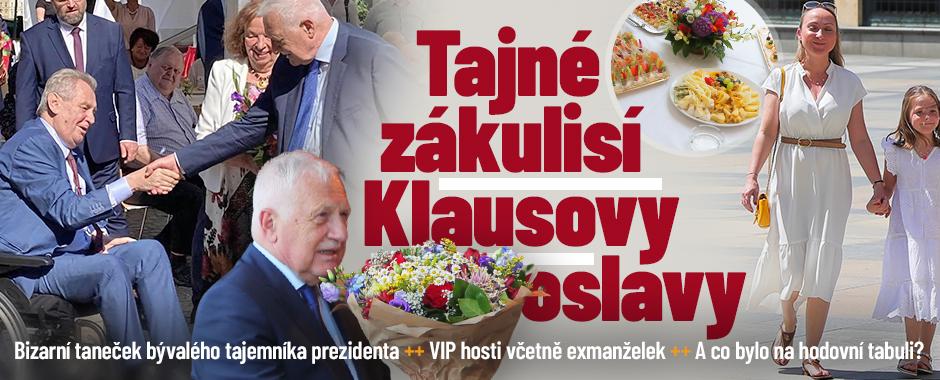 Zákulisí Klausovy oslavy: Exmanželky synů, zástupy VIP hostů