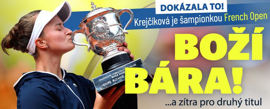 French Open ONLINE: Krejčíková ve finále, Nosková vyhrála juniorku