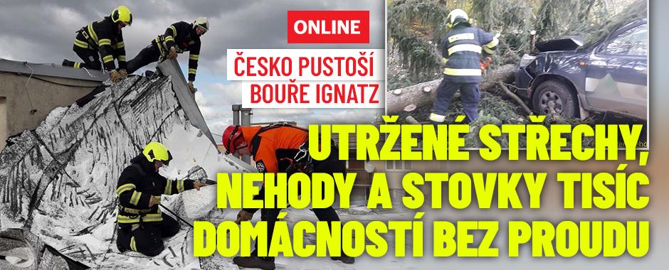 Do Česka se řítí bouře Ignatz: Sledujte radar Blesku