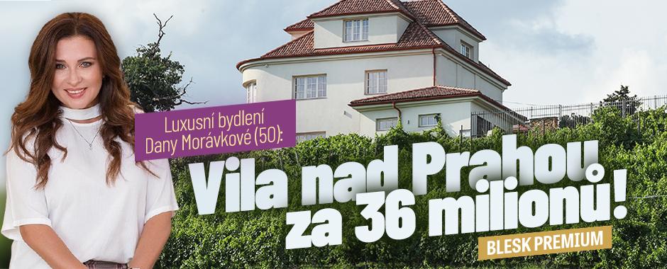 Dana Morávková: Luxusní vila nad Prahou za 36 milionů!