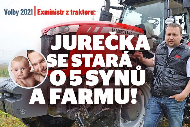 Exministr z traktoru: Jurečka řídí farmu i velkou rodinu