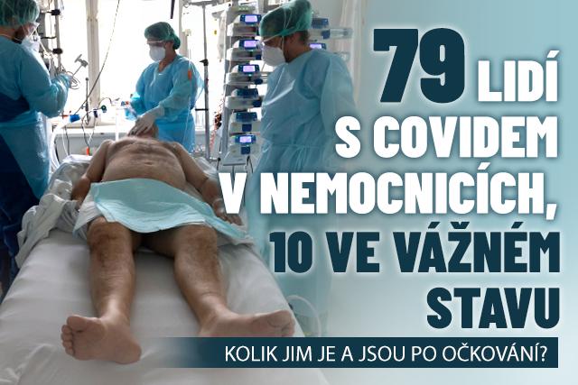 79 lidí s covidem v nemocnicích: Kolik jim je a jsou očkovaní?