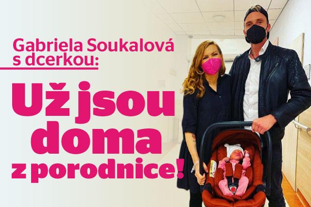 Gábina Soukalová s holčičkou už jsou doma z porodnice