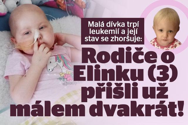 Elinka (3) trpí leukemií: Rodiče o ni dvakrát málem přišli!