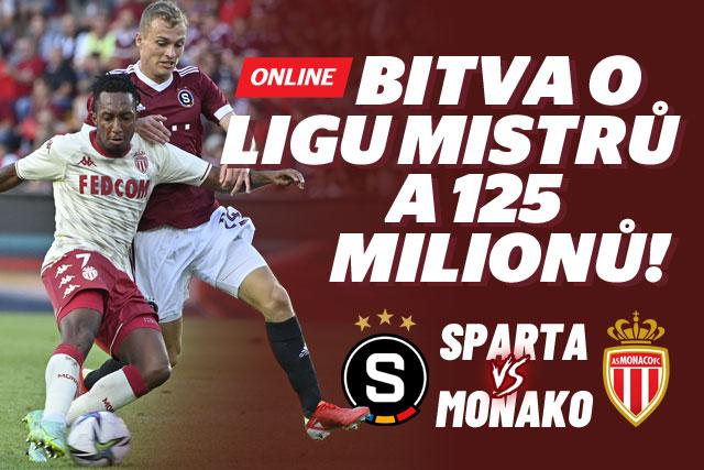 ONLINE   STUDIO: Sparta - Monaco. Ve středu obrany Panák s Hanckem